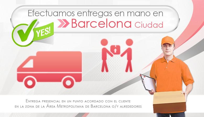 Efectuamos entregas en mano en Barcelona ciudad